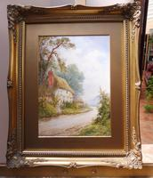 Watercolour Mill Cottage Reigate Listed Artist H Rawson (13 of 13)