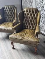 Pair of Leather Wing Chairs (5 of 10)
