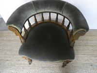 19th Century Oak Desk Chair (2 of 7)