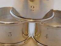 Boxed Set 4 1919 Hallmarked Solid Silver Napkin Rings Serviette Ring (6 of 6)