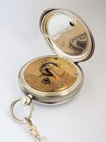 An antique silver Waltham pocket watch & chain. (6 of 6)