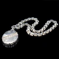 Antique Aesthetic Large Rose Gold & Sterling Silver Locket & Collar Necklace (6 of 12)