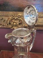 Antique Solid Silver Mounted Claret Jug (5 of 8)