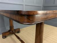 Good William IV Rosewood Library Stretcher Table (6 of 12)