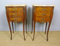 Pair of Antique French Bedside Cabinets Marble Top (4 of 6)