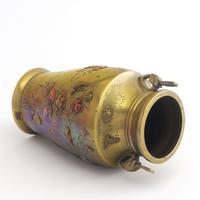 Japanese Meiji Period Large Bronze & Mixed Metal Vase c.1885 (7 of 11)