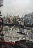 Large Oil on Board The Thames Listed Artist Sheila Appleton (2 of 12)