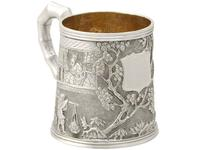 Chinese Export Silver Christening Mug - Antique c.1800 (4 of 12)