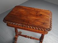 Antique Regency Mahogany Side Table (16 of 19)