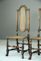 Pair of Walnut & Cane Carolean Chairs (2 of 11)
