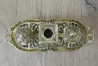 Fine William Tonks & Sons Brass Inkwell Registered Diamond for 1883 Double Inkstand (7 of 10)