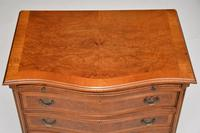Antique Georgian Style Burr Walnut Chest of Drawers (10 of 10)