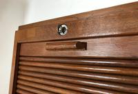 """Vintage Mid Century Double French Filing Cabinet Tambour Roller Shutter """"Radia"""" (6 of 12)"""