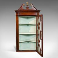 Antique Corner Cabinet, English, Mahogany, Wall, Georgian, Astragal Glaze, 1790 (8 of 12)