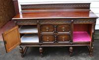 1940s Oak Sideboard with Back - Good Storage (2 of 5)