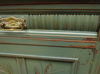 Antique Painted Bohemian Blue Edwardian Sideboard (11 of 22)