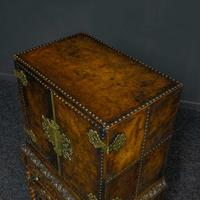 Late Victorian Leather Bound Cupboard on Stand (6 of 10)