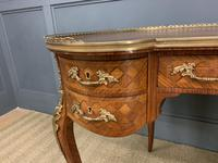 French Kingwood Parquetry Kidney Shaped Desk (5 of 19)