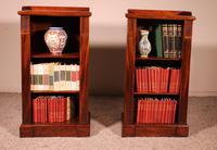Pair of Open Bookcases 19th Century - William IV