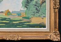 Exquisite Original Early 20th Century Impressionist Farmland Landscape Oil Painting (10 of 12)