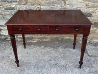 Victorian Mahogany Two Drawer Side Table