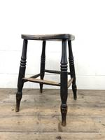 Antique 19th Century Elm Country Made Stool (2 of 8)