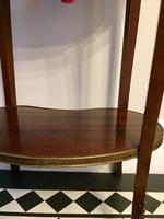 Antique French Kidney Shaped Side Table with Marble Top (7 of 10)