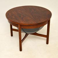 Danish Vintage Rosewood Coffee Table / Work Box (4 of 9)