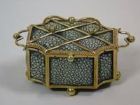 Fine Antique Shagreen Jewellery / Ring Trinket Box (5 of 9)