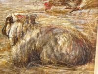 "Watercolour ""Tending The Sheep"" By Bertha Rhodes RA Rca Exh 1905 -1912 (36 of 41)"