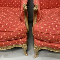 Pair of French Painted Wing Armchairs (5 of 8)