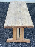 Large French Rustic Bleached Oak Farmhouse Dining Table (14 of 36)
