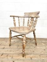 Pair of Antique Smoker's Bow Chairs (8 of 10)