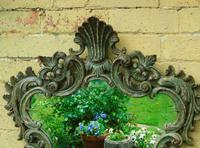 Solid Oak Hand Painted French Mirror (2 of 7)