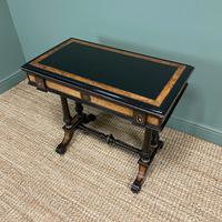 Victorian Ebonized and Walnut Antique Games Table (2 of 9)