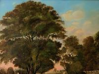 Huge Fabulous 19thc Continental Farming Country Landscape Oil Painting (14 of 19)