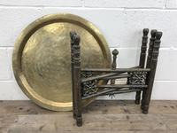 Early 20th Century Middle Eastern Brass Tray Top Folding Table (4 of 8)