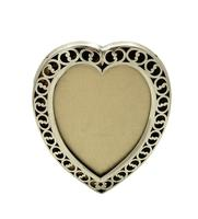 """Antique Victorian Sterling Silver & Tortoiseshell 7"""" Heart Photo Frame 1894 (4 of 10)"""