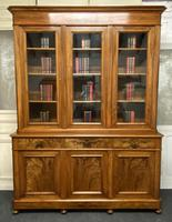 Fine Quality French Walnut Library Bookcase