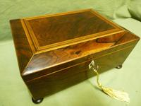 Regency Rosewood Jewellery / Sewing Box - Original Tray + Accessories c.1820 (2 of 15)
