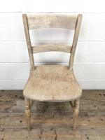 Pair of Antique Bar Back Farmhouse Kitchen Chairs (5 of 8)