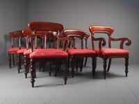 Set of 12 Scottish Mahogany Dining Chairs (2 of 18)