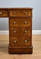 19th Century Victorian Burr Walnut Pedestal Desk (6 of 18)