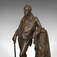 Antique Figure, Sir Walter Scott, Bronze, Statue, Poet, Victorian c.1880 (5 of 12)
