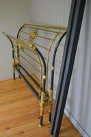 Rare Antique Victorian R.W Winfield 5ft King Size Brass & Iron Sleigh Bed (21 of 21)