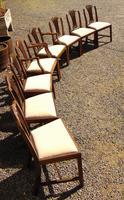 Set of 8 Hepplewhite Style Mahogany Dining Chairs (10 of 12)