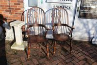 1940's Pair of Oak Country Farmhouse Chairs (5 of 5)