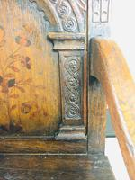 Rare English Charles II Oak Wainscot Armchair Likely to be from Battle Abbey c.1660-1685 (18 of 20)