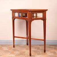 Fine Quality Edwardian Inlaid Mahogany Bijouterie Display Table (16 of 18)