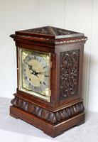 Solid Carved Oak Bracket Clock (5 of 11)